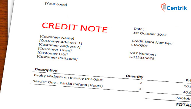 Provisions for issuing credit note under gst altavistaventures Images