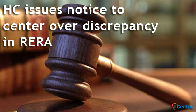 HC issues notice to center over discrepancy in RERA